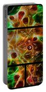 Blood Work Triptych Portable Battery Charger by Peter Piatt