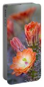 Bloom In Orange Portable Battery Charger