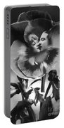 Bloomin' Kiss Vintage Art Bw Portable Battery Charger