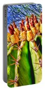 Blooming Barrel Cactus By Diana Sainz Portable Battery Charger