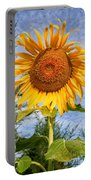 Blooming Sunflower V2 Portable Battery Charger by Adrian Evans
