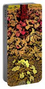 Blossoms And Tree In Yellow And Red Portable Battery Charger