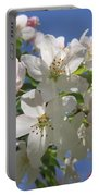 Blossoms On Blue Portable Battery Charger