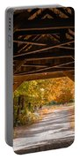 Blow-me-down Covered Bridge Cornish New Hampshire Portable Battery Charger by Edward Fielding