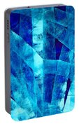 Blue Abstract Art - Paths - By Sharon Cummings Portable Battery Charger