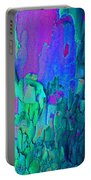 Blue Abstract Trunk Portable Battery Charger