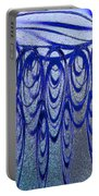 Blue And Black Swirl Abstract Portable Battery Charger