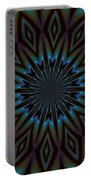 Blue And Brown Floral Abstract Portable Battery Charger
