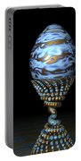 Blue And Golden Egg Portable Battery Charger