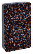 Blue And Orange Circles Portable Battery Charger