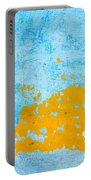 Blue And Orange Wall Texture Portable Battery Charger