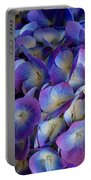 Blue And Purple Hydrangeas Portable Battery Charger