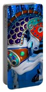 Blue And Red Carousel Horse Portable Battery Charger