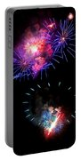 Blue And Red Firework Disks Portable Battery Charger