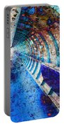 Blue And Rust Grunge Tunnel Portable Battery Charger