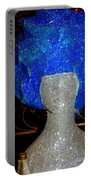 Blue And Silver Girl Portable Battery Charger