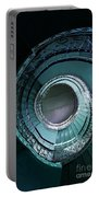 Blue And Silver Spiral Stairs Portable Battery Charger