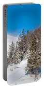 Blue And White Colorado Winter Portable Battery Charger
