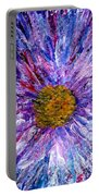 Blue Aster Miniature Painting Portable Battery Charger