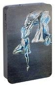 Blue Ballerina Dance Art Portable Battery Charger