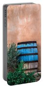 Blue Barrel With Adobe Portable Battery Charger