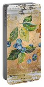 Blue Berries And Butterfly On Vintage Tin Portable Battery Charger