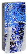 Blue Birch Trees Portable Battery Charger