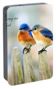 Blue Bird Love Notes Portable Battery Charger