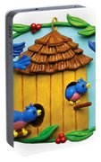 Blue Birds Fly Home Portable Battery Charger
