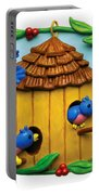 Blue Birds Fly Home Portable Battery Charger by Amy Vangsgard
