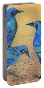 Blue Birds Of Happiness Portable Battery Charger