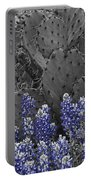 Blue Bonnet Cactus Portable Battery Charger