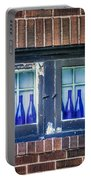 Blue Bottles In A Window Portable Battery Charger