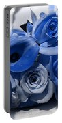 Blue Bouquet Portable Battery Charger