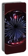 Blue Burst Orb Abstract Portable Battery Charger