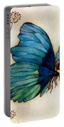 Blue Butterfly II Portable Battery Charger by Warwick Goble