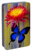 Blue Butterfly On Fire Mum Portable Battery Charger