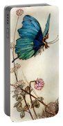 Blue Butterfly Portable Battery Charger by Warwick Goble