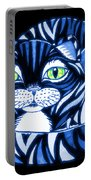 Blue Cat Green Eyes Portable Battery Charger