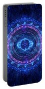 Blue Circle Fractal Portable Battery Charger