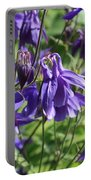 Blue Columbine Flower Portable Battery Charger