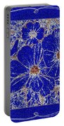 Blue Cosmos Abstract Portable Battery Charger