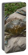 Blue Crab On The Rock Portable Battery Charger