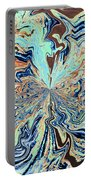 Blue Crazy Lace  Portable Battery Charger