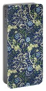 Blue Daisies Design Portable Battery Charger
