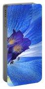 Blue Delphinium Portable Battery Charger