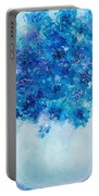 Blue Delphiniums Portable Battery Charger