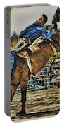 Blue Denim Rider Portable Battery Charger