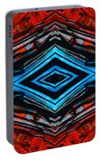Blue Diamond Art By Sharon Cummings Portable Battery Charger