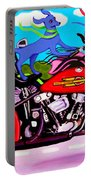 Blue Dogs On Motorcycles - Dawgs On Hawgs Portable Battery Charger
